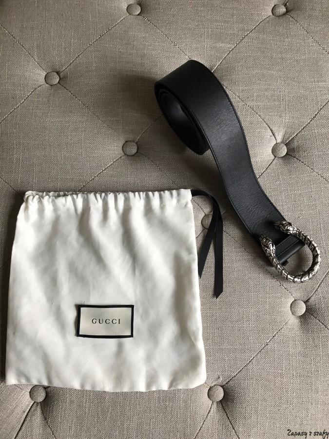Gucci Leather Belt Zapasy Z Szafy